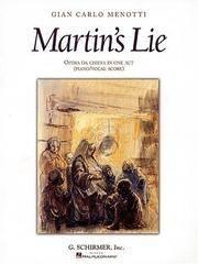 Martin's Lie: Vocal Score