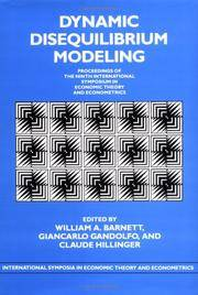 DYNAMIC DISEQUILIBRIUM MODELING (HB 1996)