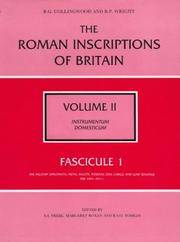 The Roman inscriptions of Britain. Vol.2 Instrumentum domesticum (Personal belongings and the like). Fascicule 1-8, Plus Epigraphic Index Volume  [ 9 Volumes All in Matching Dust Jackets ]