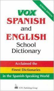 image of Vox Spanish and English School Dictionary