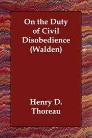 image of On the Duty of Civil Disobedience (Walden)