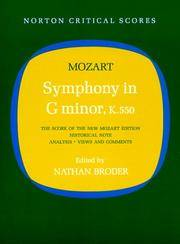 Symphony In G Minor, K550