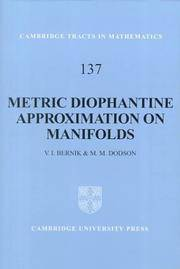 METRIC DIOPHANTINE APPROXIMATION ON MANIFOLDS (HB 1999)