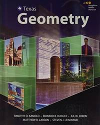 HMH Geometry Texas : Student Edition 2016