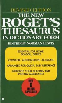 The New Roget's Thesaurus in Dictionary Form: Revised Edition