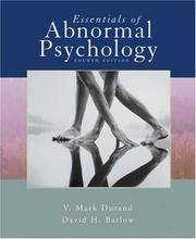 image of Essentials of Abnormal Psychology