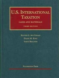 U. S. International Taxation