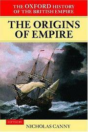 image of The Oxford History of the British Empire, Vol. 1