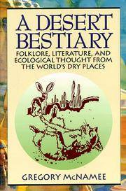 A Desert Bestiary Folklore, Literature, and Ecological Thought from the World's Dry Places