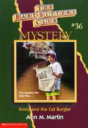 image of Kristy and the Cat Burglar (Baby-sitters Club Mystery)