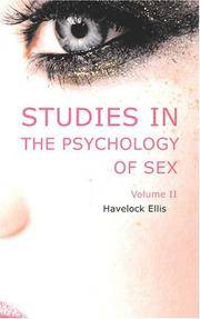 Studies In the Psychology Of Sex Volume 2