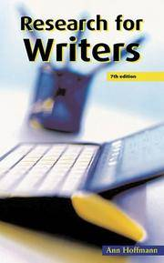 RESEARCH FOR WRITERS (Writing Handbooks)