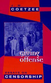 image of Giving Offense � Essays on Censorship (Paper)