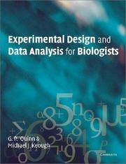 Experimental Design and Data Analysis for Biologists by Gerry P. Quinn; Michael J. Keough - Paperback - 2002-04-02 - from BooksEntirely and Biblio.com