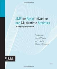 JMP for Basic Univariate and Multivariate Statistics: A Step-by-step Guide