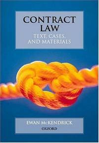 image of Contract Law (Text Cases & Materials)