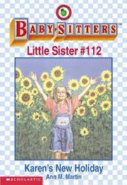 image of Karen's New Holiday: Sitters Little Sister #112