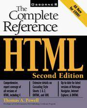 HTML: The Complete Reference
