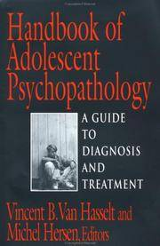 Handbook of Adolescent Psychopathology (Series in Scientific Foundations of Clinical and...
