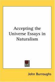 image of Accepting the Universe Essays in Naturalism