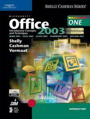 image of Microsoft Office 2003: Introductory Concepts and Techniques, Second Edition (Shelly Cashman)