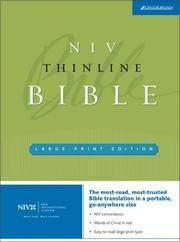 NIV Thinline Bible, Large Print (New International Version)