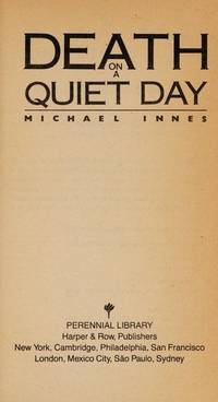 Death on a Quiet Day  by Innes, Michael