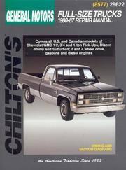 GM Full-Size Trucks, 1980-87 (Chilton Total Car Care Series Manuals)