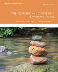 Professional Counseling: A Process Guide to Helping by   Janine M. Bernard Harold L. Hackney - Paperback - from Book Campus (SKU: BPS1754)