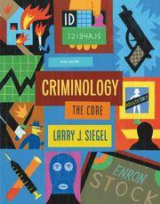 Criminology: The Core by  Larry J Siegel - Paperback - from The Book Cellar and Biblio.com