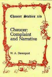 Chaucer : Complaint and Narrative