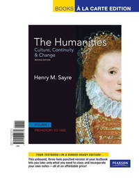 Humanities, The, Volume I, Books a La Carte Edition
