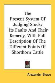 The Present System Of Judging Stock