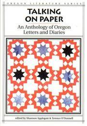 Talking on Paper (Oregon Literature)