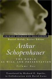 Arthur Schopenhauer: The World as Will and Presentation. Volume One.