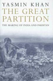 The Great Partition: The Making of India and Pakistan by  Yasmin Khan - Hardcover - from Cloud 9 Books and Biblio.com