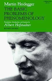The Basic Problems Of Phenomenology
