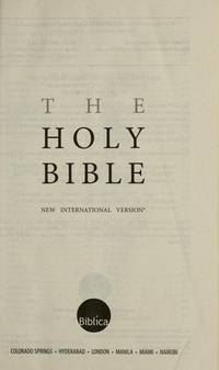 THE BIBLE [Paperback] INTERNATIONAL BIBLE SOCIETY
