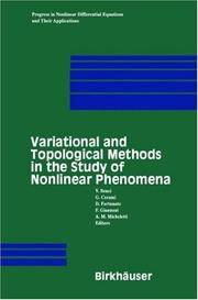 VARIATIONAL AND TOPOLOGICAL METHODS IN THE STUDY OF NONLINEAR PHENOMENA (PROGRESS IN NONLINEAR...