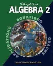 image of McDougal Littell Algebra 2: Student Edition 2001