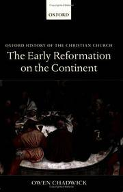 image of The Early Reformation on the Continent (Oxford History of the Christian Church)
