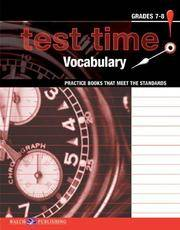 Test Time! Practice Books That Meet The Standards: Vocabulary (Test Time! Practice Books That...