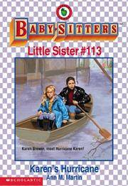 Karen's Hurricane (Baby-sitters Little Sister) by  Ann M Martin - Paperback - 1999 - from Orion LLC and Biblio.com