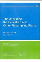 The Jackknife, the Bootstrap and Other Resampling Plans