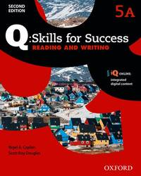 Q Skills for Success: Level 5: Reading & Writing Split Student Book a with IQ Online