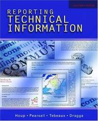 Reporting Technical Information by  David Auxter - Paperback - from Sturgeon Books (SKU: 0195178793w130881LOC99366)