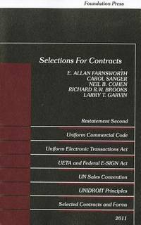 Selections for Contracts: Uniform Commercial Code, Restatement (Selected Statutes)