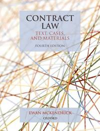 image of Contract Law: Text, Cases, and Materials