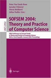 SOFSEM 2004: Theory and Practice of Computer Science 30th Conference on Current Trends in Theory...