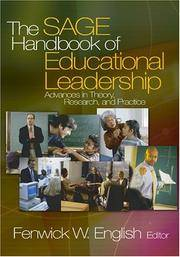 The SAGE Handbook of Educational Leadership: Advances in Theory, Research, and Practice